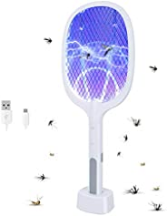 infinitoo Handheld Electric Fly Swatter, Powerful 3000 Volt Mosquito Killer Mosquitoes Lamp & Racket 2 in