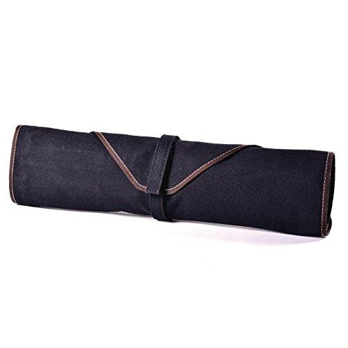 Boldric CM554 Canvas Knife Bag, 6 Slots, Black Test
