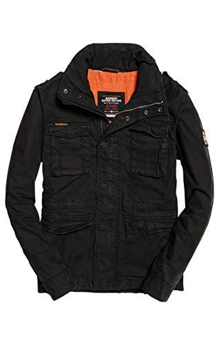 Superdry - Classic Rookie Military Jacket - Blouson - Homme - Noir (Bitter Black Xbz) - Taille: XL