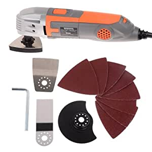 Terratek Oscillating Variable speed Multi Purpose Multi-Tool with 13 Piece accessory kit,Ideal for Cutting,scraping & sanding