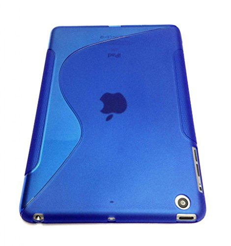 G4GADGET® S Line Wave Gel Silicone Case Cover For Apple IPAD AIR BLUE