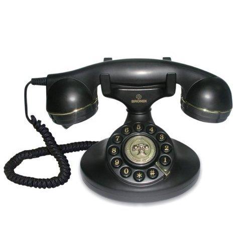 Oferta de Brondi Vintage 10 - Teléfono fijo analógico, color negro