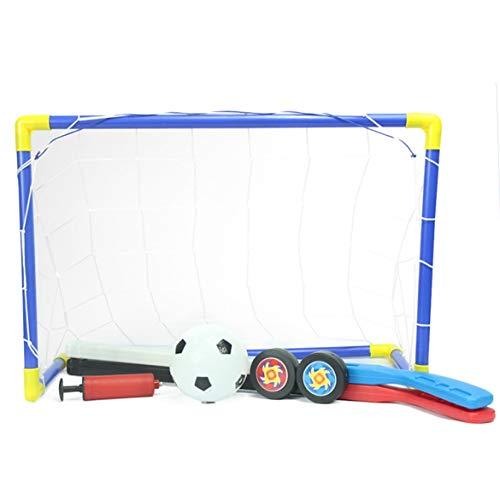 JohnJohnsen Sport-Spielzeug für Kinder 2-in-1-Fußball-Fußball Hockey tragbares Set Große lustiges Indoor Outdoor Sport Spielzeug Developmental Game (Multicolor) -