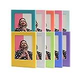 CAIUL Compatiable Cadre magnétique coloré, Combinaison Gratuite de Cadre-Photo Amusant et Aimant pour Fujifilm Instax Mini 9 8 8+ 70 7s 90 25 26 50 Films (10 Couleurs)
