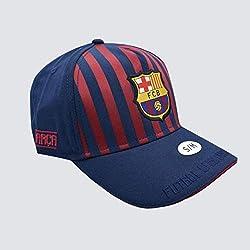 Gorra Junior FC. Barcelona 2018-2019 - Producto Licenciado - Talla S/M niño Regulable - Poliéster 100%