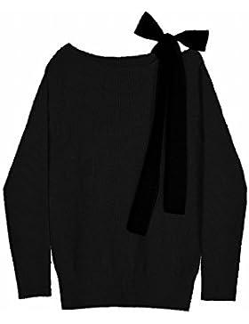 La Sra. otoño suéter hombro hombros desnudos