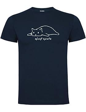 Wolkenbruch® Herren T-Shirt nicht heute Katze vers. Farben Gr. S bis XXXXXL