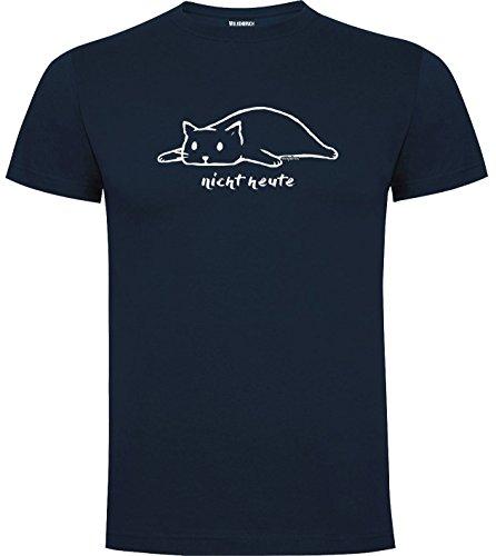 Wolkenbruch Herren T-Shirt nicht heute Katze vers. Farben Gr. S bis XXXXXL Navy