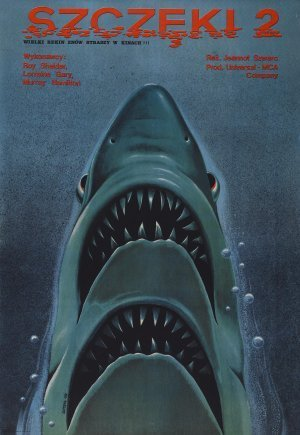 Jaws 2 - Roy Scheider - Polish Movie Wall Poster Print - 43cm x 61cm / 17 Inches x 24 Inches A2