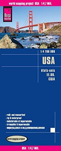 USA-EE.UU. Mapa de carreteras impermeable. Escala 1:4.700.000 Reise Know-How por VV.AA.