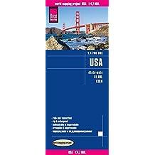 USA-EE.UU. Mapa de carreteras impermeable. Escala 1:4.700.000 Reise Know-How