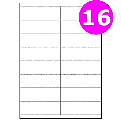 A4Étiquettes pour adresse Adhésif feuilles Imprimante jet d'encre Copieur Laser patte autocollante Multi-Purpose Label Size:16 labels - 100 Sheets Multicolore