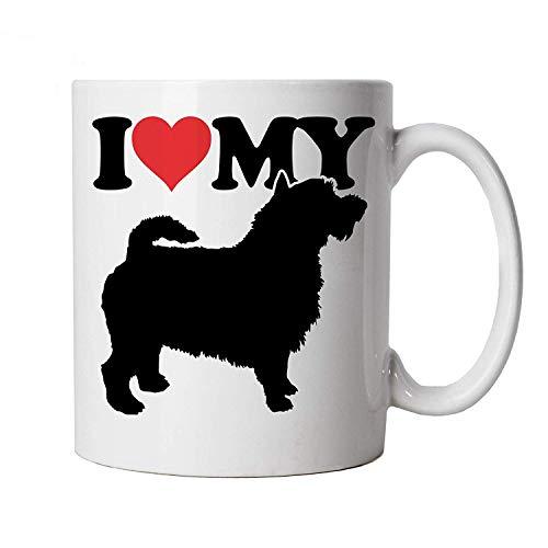 I Love My Cairn Terrier Becher Hund Geschenk Pelz Baby Geliebten Eigentümer Herren Best Friend Handwerkskünste Hund Show Hundehütte Verein Pedigree Rasse Welpe Hunde Becher Geschenk -