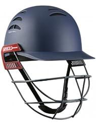 Gris Nicolls prueba abridor casco de Cricket–Senior, color azul marino, tamaño small