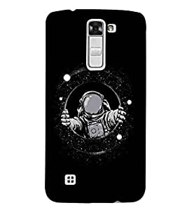 For LG K7 :: LG K7 Dual SIM :: LG K7 X210 X210DS MS330 :: LG Tribute 5 LS675 scientist in suit, galay, black background Designer Printed High Quality Smooth Matte Protective Mobile Case Back Pouch Cover by APEX