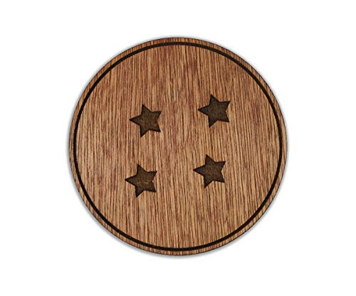 Dragon Ball Z - Goku's Ball - 4 Stars - Super Saiyan - Custom Wooden Coaster Set