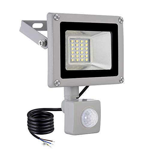 20w Led Foco Proyector,Foco sensor de movimiento ,Led Floodlight para Exterior Iluminación Decoración IP 65 ,6000K Blanco Frío,Lámpara para Jardín, Garaje, Bodega y Patio