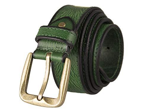 Zerimar Cinturón Piel de Hombre | 4 cm Ancho | Cinturón Hombre Cuero | Cinturón Hombre Hebilla