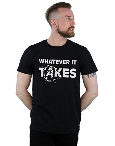Marvel Herren Avengers Endgame Whatever It Takes T-Shirt Schwarz XXXX-Large