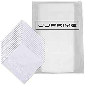 12 PC HANDKERCHIEF WHITE PLAIN PURE SOFT COTTON HANKIES GIFT FOR MEN/'S