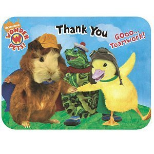 Wonder Pets Die-Cut Thank You Notes by KidsPartyWorld.com