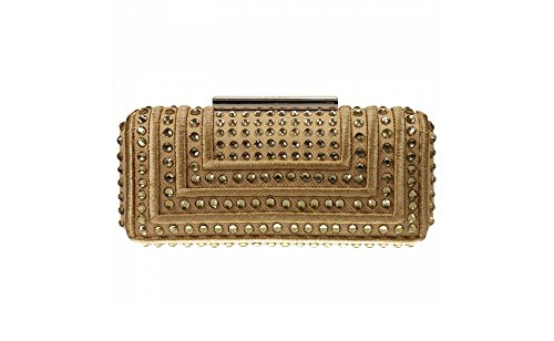 PINKO BAG MISS AMY CLUTCH STRASS CON TRACOLLA