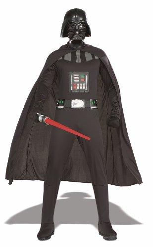 Kostüme Lord Der Halloween Dunkle (Star Wars Darth Vader Herren Kostüm mit Maske Größe)