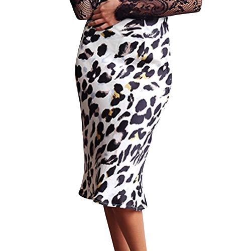 Damen Rock Leopard Rock Frauen Frühling Herbst Wild Abendkleid Lässig Elegant Kleider Abendkleid...
