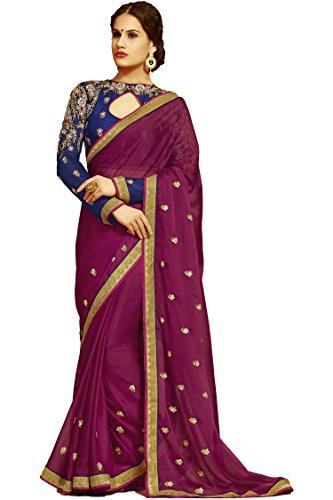 Sareeshop Georgette Saree With Blouse Piece (S1105_Multi_Free Size)