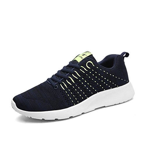 Men's Breathable Lace Up Outdoor Athletic Walking Shoes Navy
