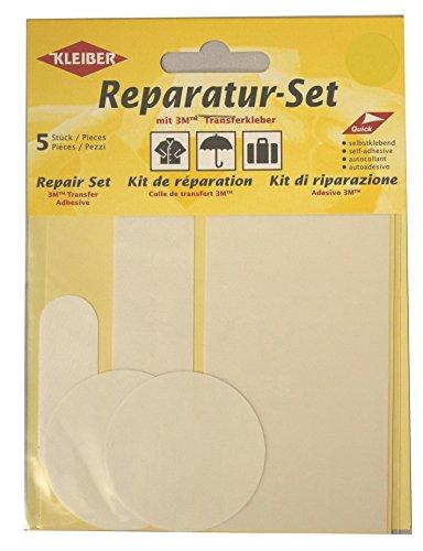 kleiber-5-pieces-set-patchs-autocollant-nylon-pour-reparer-vetements-blanc