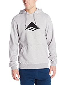 Emerica Triangle PO–Felpa con cappuccio, Uomo, Sweat Triangle PO Hood, Grigio/Erica, M