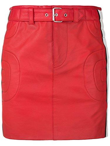 Moschino Damen A371305701129 Rot Leder Rock (Moschino Röcke Damen)