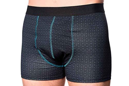 DRY & COOL Tages Inkontinenzhosen für Männer | Unterwäsche | Waschbar | Absorbierende Einlage | Cool Black | Medium