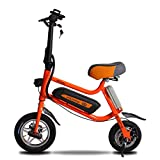 Lvbeis Erwachsene Elektrisches Fahrrad Mountainbike Tragbares Pedelec E-Bike 5 KM/h E-Fahrrad Mit Hilfsmotor,Orange