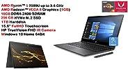 2019 Newest HP ENVY x360 15.6 Inch FullHD (1920x1080) Laptop Computer (AMD Ryzen™ 5 2500U 3.6GHz, 16GB DDR4 RA