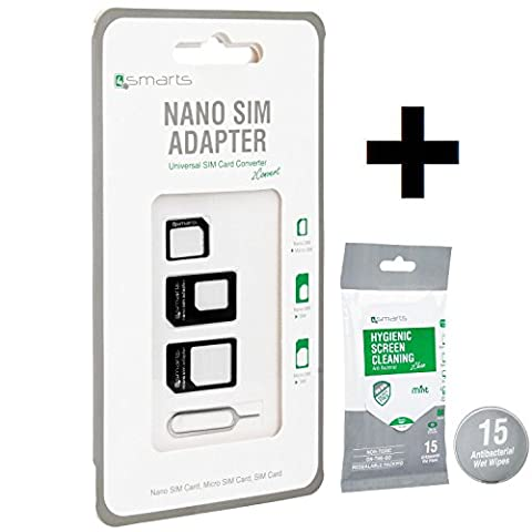 4smarts 4in1 Kombiset Nano SIM & Micro SIM Adapter Set