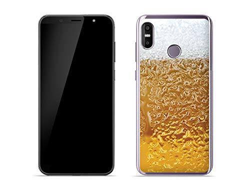 etuo Handyhülle für HTC U12 Life - Hülle Fantastic Case - Bier mit Schaum - Handyhülle Schutzhülle Etui Case Cover Tasche für Handy
