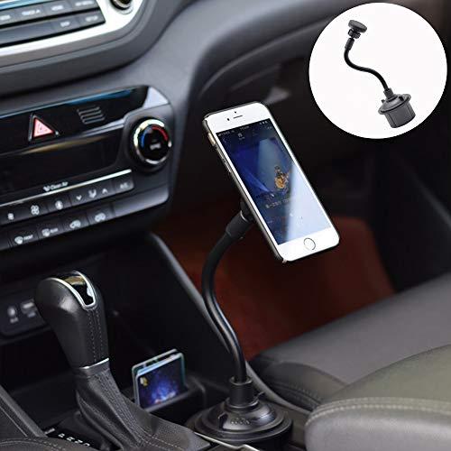 ZDGM Getränkehalter Handyhalterung Auto Magnet, Universal Metall 360 ° Einstellbar KFZ Handy Smartphone Halterung für iPhone XS/X/XR/8/7 Plus, Galaxy S10/S9+/ S8, P30, GPS-Geräte usw