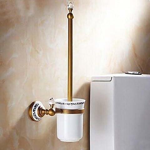 ZDQ- Antique Brass Toilet Brush Holder