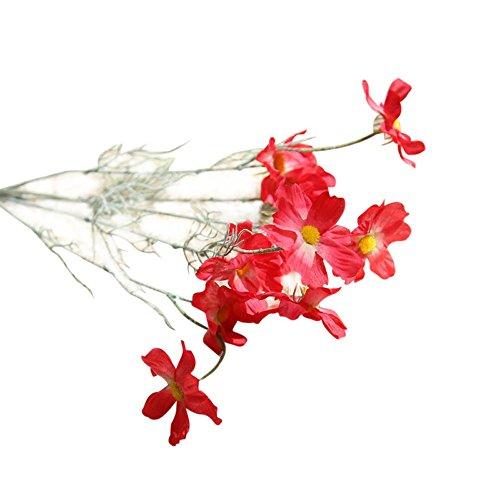 OSYARD Wohnaccessoires & Deko Kunstblumen,Hübsche Künstliche Chrysantheme Seiden-Fake Blumen Hochzeit Party Garten Decor Hot DIY Wohndekorationen Gefälschte Blumen Kunstblumen,10 Köpfe Bouquet