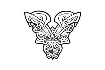 La prosperite , signe celtique autocollant - 50cm Hauteur - 50cm Largeur - noir vinyle