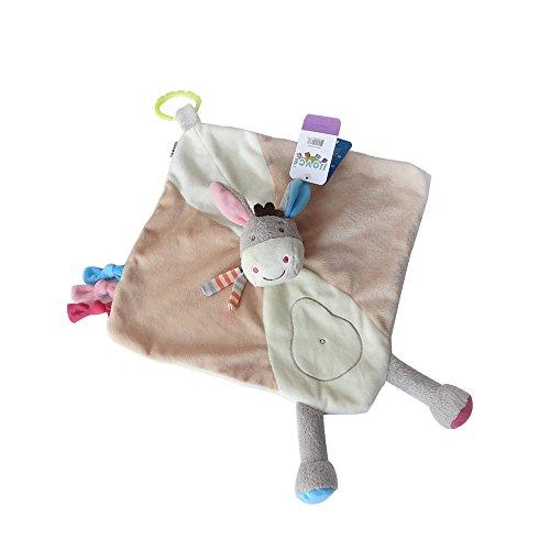 INCHANT Kid Plüschdecke - Neugeborenes Geschenk weiche Esel Snuggler Spielzeug für Baby Jungen und Mädchen, Kind Comfort Decke mit Link Schleife