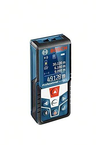 Bosch 06159940H0 50C Distanzmessgerät/Laser-Entfernungsmesser GLM C Professional | + Baustativ BT 150, Messen von Längen, Flächen, Volumen und Neigungen | Messerbereich: 0,05 – 50 m, 1.5 V, Schwarz