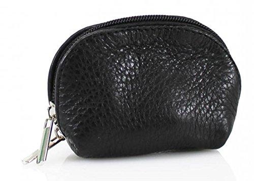 LeahWard® LeahWard Petit Size Femme Genuine Cuir Coin Portefeuilles Sacss Pouch Key Holder VP 1-8 Noir