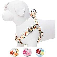 Umi. by Amazon - Made Well, pettorina per cani floreale, regolabile, taglia M, circonferenza petto 51-66 cm, colore avorio