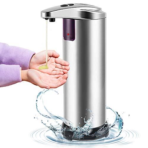 LIVEHITOP Dispensador de jabón automático, sin Contacto Dispensador de por Infrarrojos de jabón con Acero Inoxidable, Interruptor Ajustable, baño apropiado, cocinas, Hotel
