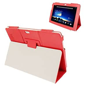 Pure Color Litchi Texture Leather Case with Holder for Asus PadFone Infinity A80 (Red)