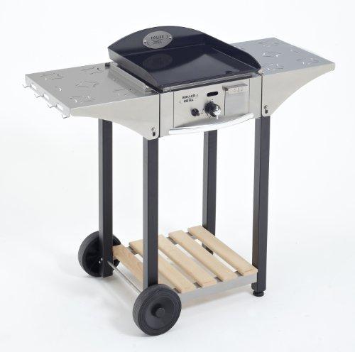 Roller Gril R.CHPS400, Carrello per barbecue 400, Acciaio Inox/Legno