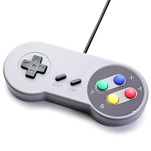 JEINNDEER Nintendo juego de PC GamePad controlador SFC para Super Famicom Windows PC USB